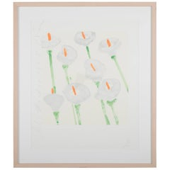 """Lilies"" Signed and Dated Serigraph by Donald Sultan"