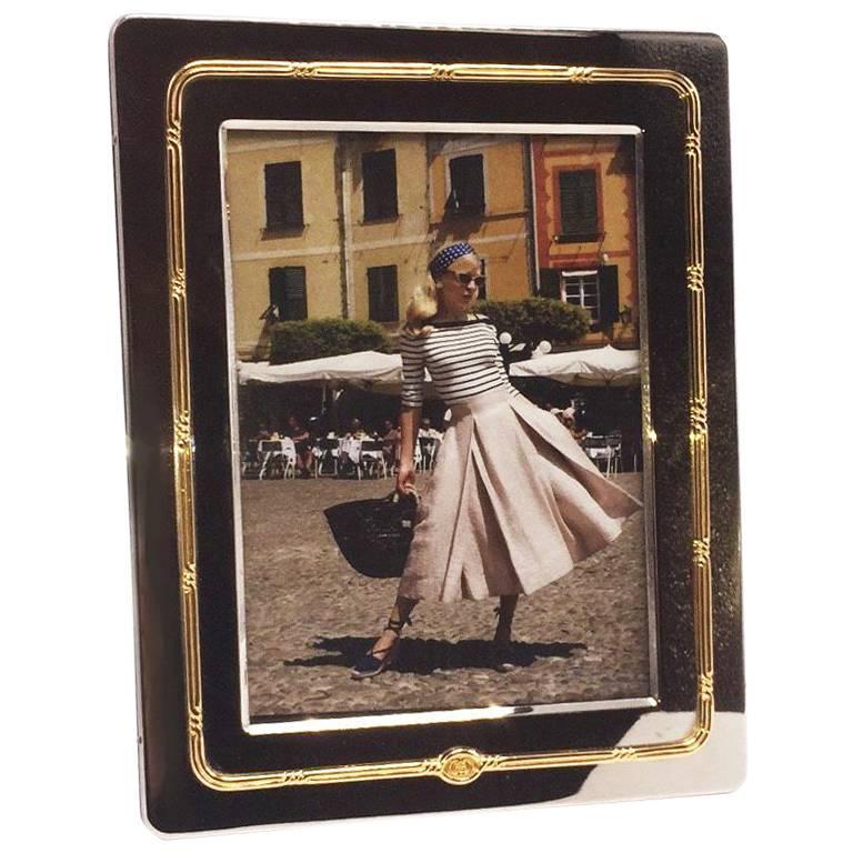Silver and Gold Gucci Picture Frame, circa 1950