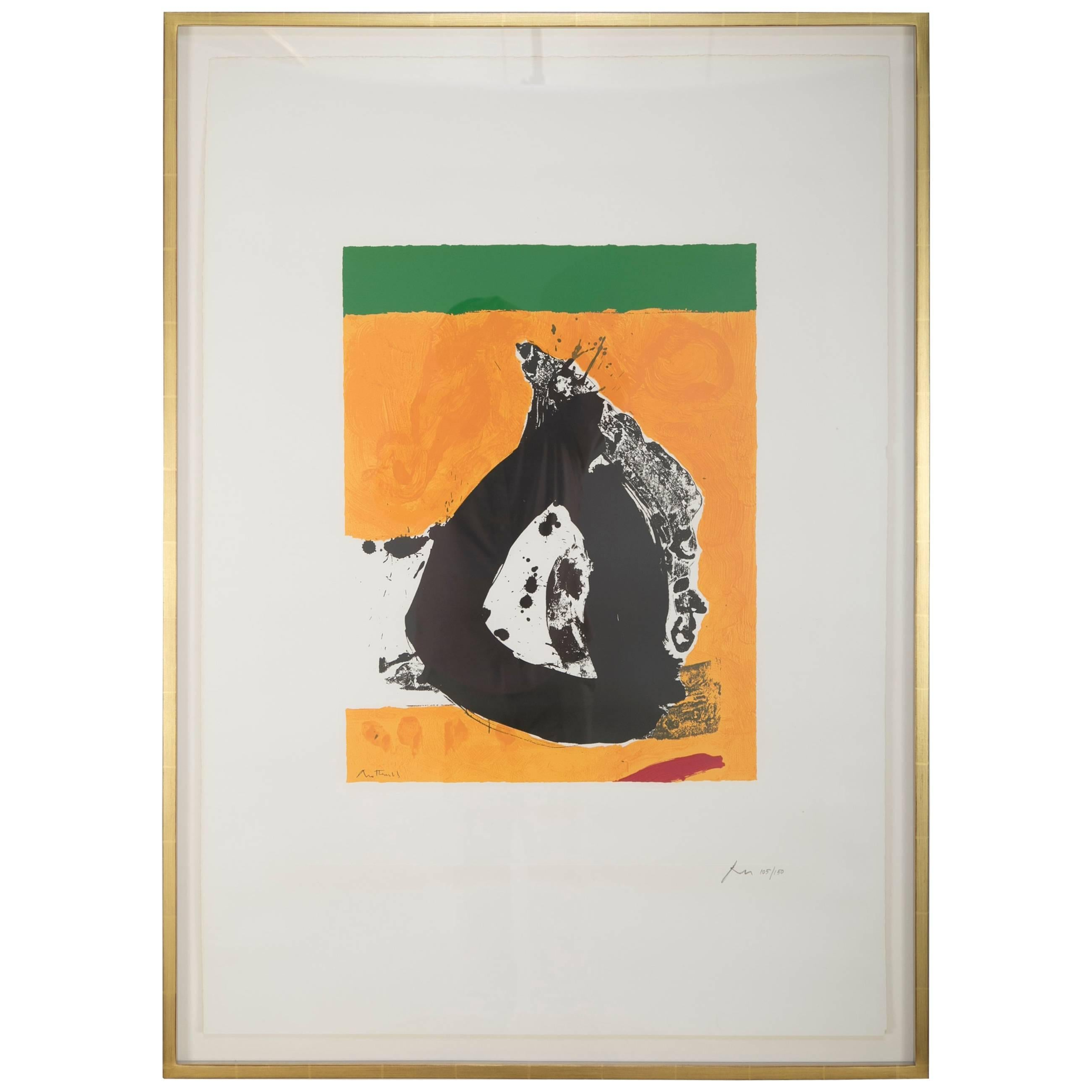 The Basque Suite: Untitled, Signed and Numbered Silkscreen by Robert Motherwell