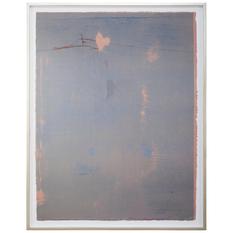 """""""Cameo"""" a Signed and Numbered Color Woodcut by Helen Frankenthaler"""