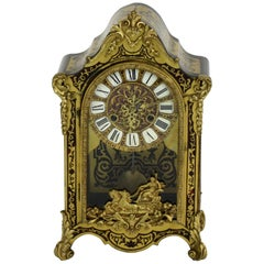 French Antique Boulle Mantel Clock