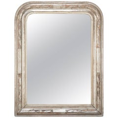 French, Louis Philippe Period Silvered Arch Top Mirror