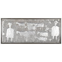 Repoussé Aluminum Panel by Nigerian Artist Asiru Olatunde