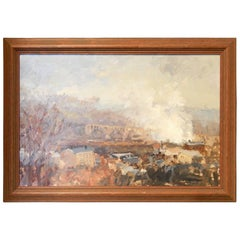 """Manayunk Valley with Smoke,"" Early Painting by Stuart Shils"