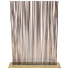 Val Bertoia Linear Three Row Copper and Brass Sonambient Sculpture, USA