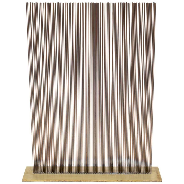 Val Bertoia Linear Three Row Copper and Brass Sonambient Sculpture, USA For Sale