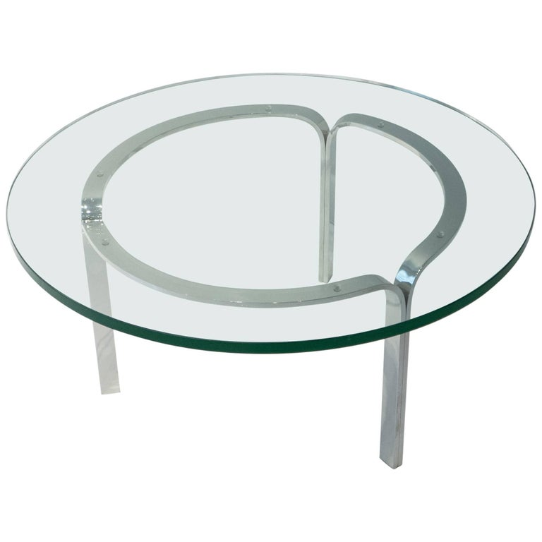Nicos Zographos Ribbon Steel Cocktail Table