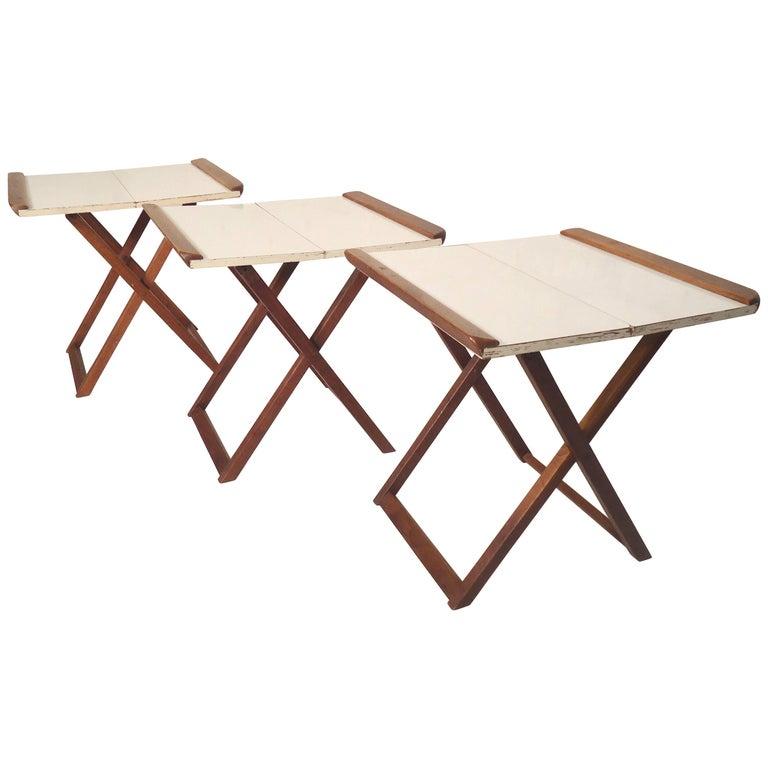 Set of Folding Dinner Trays For Sale
