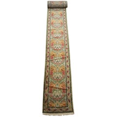 Green William Morris Arts & Crafts Runner