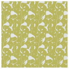 Porter Teleo Climbing Vine Green and Blue Contemporary Wallpaper Two Roll Set