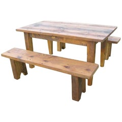 Customizable Down on the Farm Table with Benches