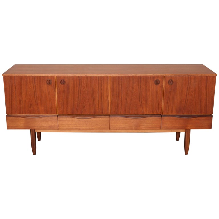 Ashley Furniture Manchester Mo: English Four-Drawer Four Door Teak Sideboard By The
