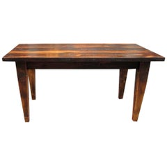 Customizable Rustic Farm Table with Tapered Legs