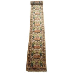 William Morris Hand-Knotted Arts & Crafts Runner