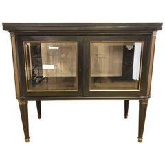 Hollywood Regency Maison Jansen Bronze-Mounted Vitrine Server