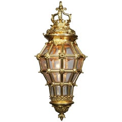 "Charming French Louis XIV Style 19th Century Gilt Bronze ""Versailles"" Lantern"