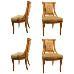 Set of Four Grosfeld House Chairs in the Hollywood Regency Style