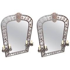 Pair of Renaissance Style Girondole Mirrors