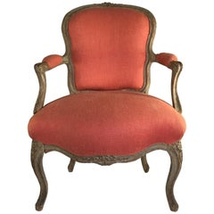 18th Century French Fauteuil Cabriolet