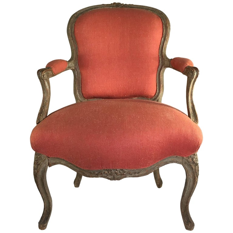 18th century french fauteuil cabriolet at 1stdibs. Black Bedroom Furniture Sets. Home Design Ideas