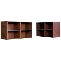 Pair of Kai Kristiansen Style Bookcases in Rosewood Danish Midcentury