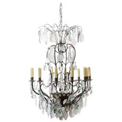 19th Century French Louis XVI-Style Crystal Chandelier