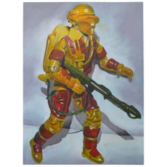 Oil on Canvas of a Toy Soldier