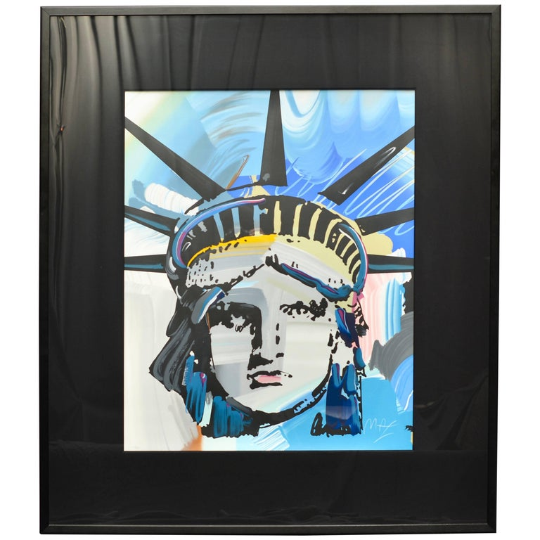 Large Original Peter Max Liberty