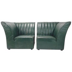 Guido Faleschini for Pace Collection by i4 Mariani Italy Club Settee Chairs
