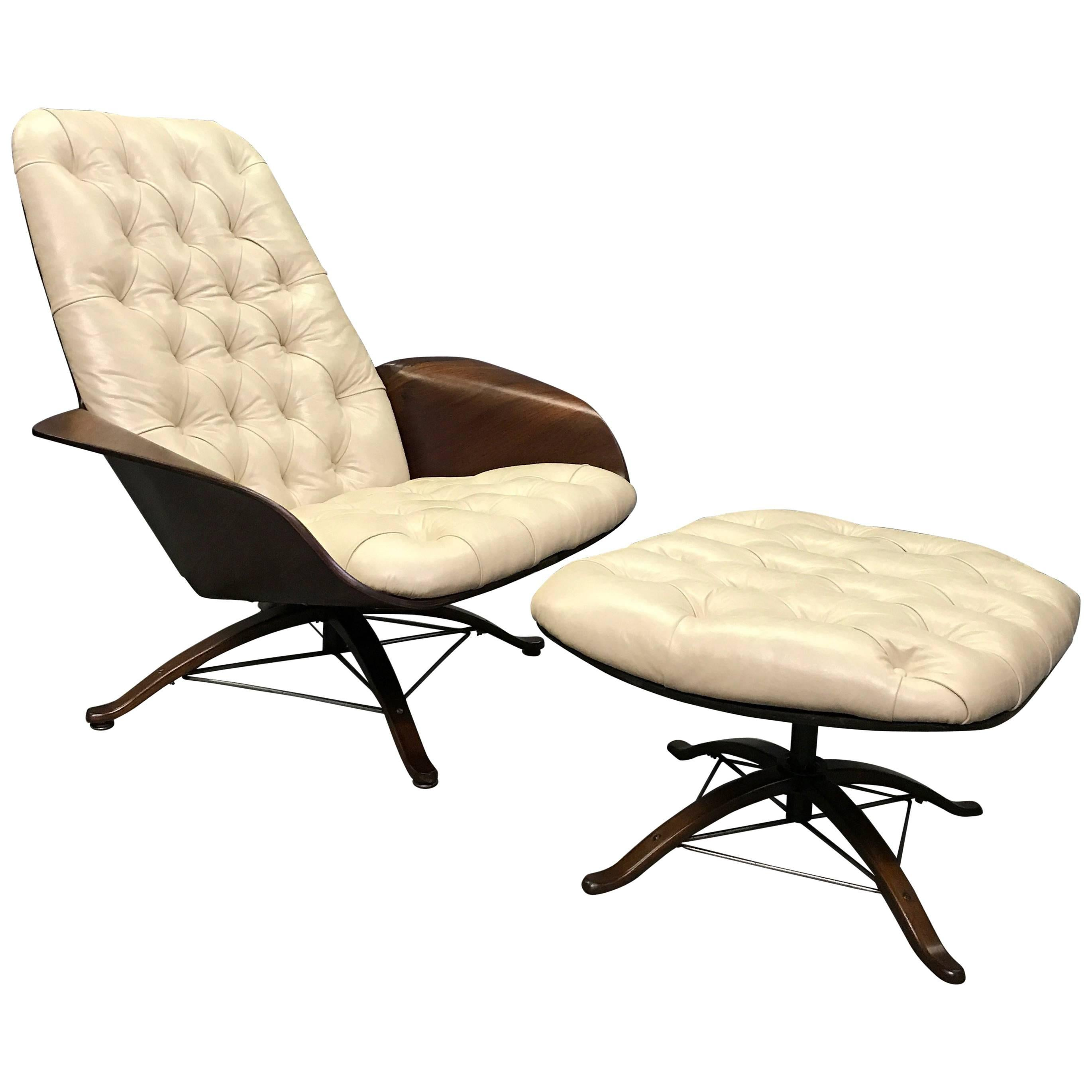 mr chair lounge chair and ottoman by george mulhauser for plycraft
