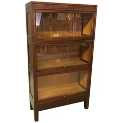 Mahogany Barrister Bookcase Cabinet by Globe Wernicke