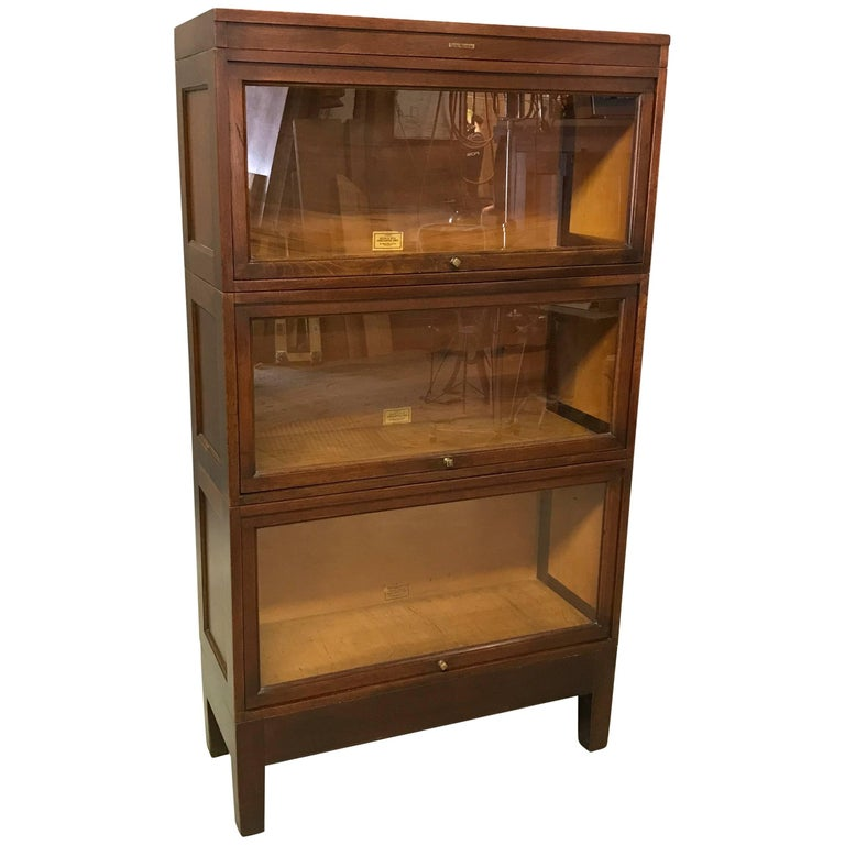 Mahogany Barrister Bookcase Cabinet By Globe Wernicke For