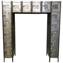 Industrial Brushed Steel Gateway Locker Unit