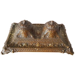 Bronze French Neoclassical Inkwell from Second Half of the 19th Century