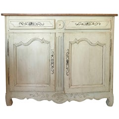 Early 19th Century French High Waisted Painted Buffet