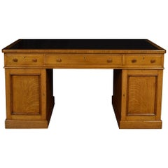 Substantial Victorian Oak Partners Desk