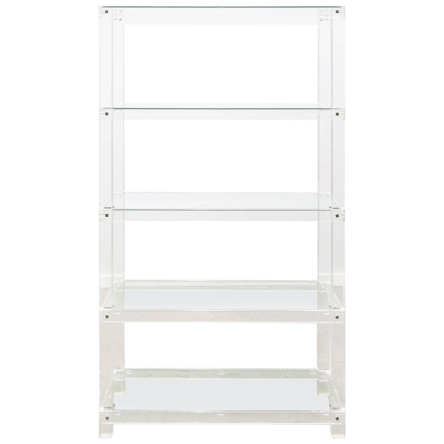 Lucite Plexiglass And Glass Tag Re Designed By Hollis Jones For  # Etagere Vintage Plexiglas