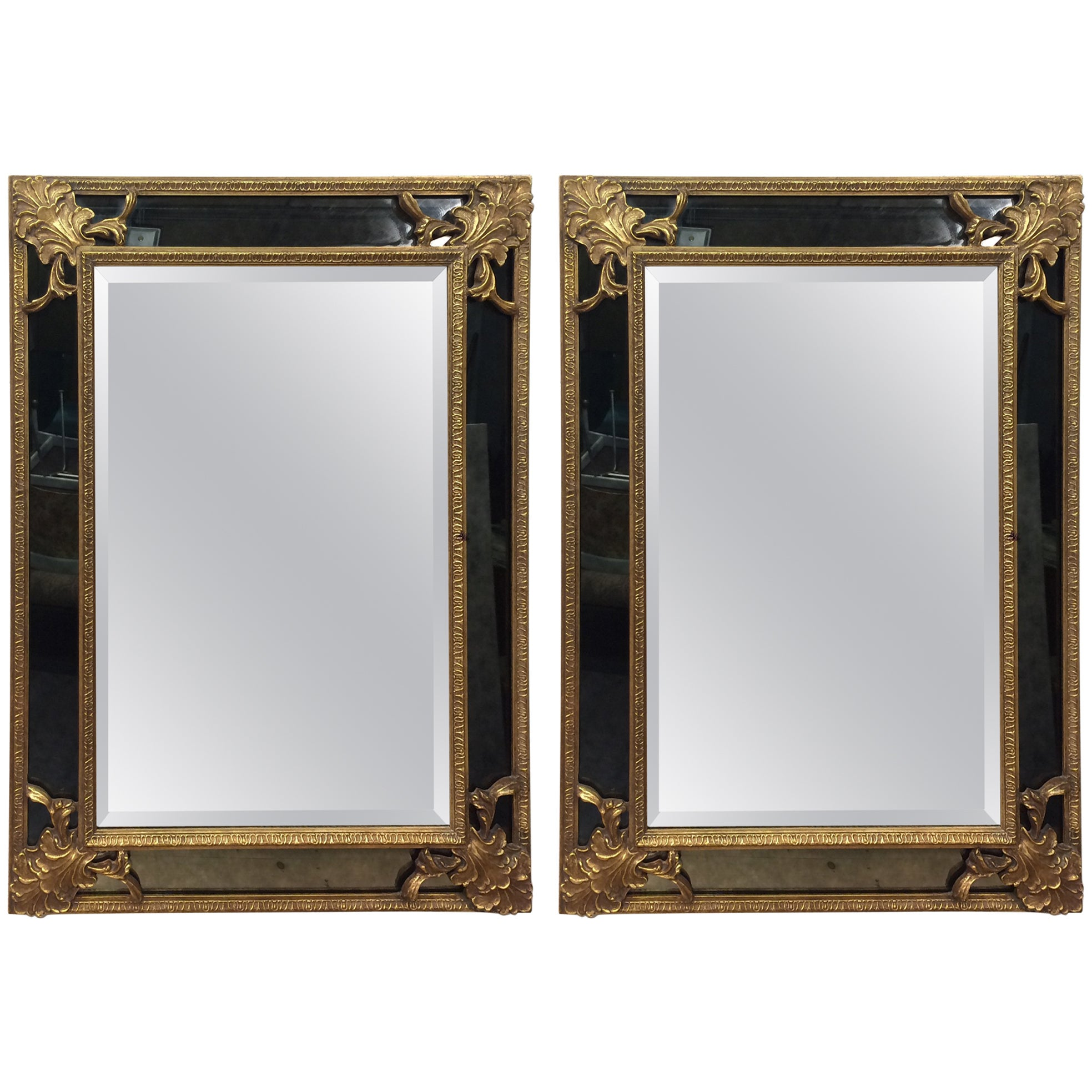 Hand-Carved Gilded Mirrors by Friedman Brothers Decorative Arts Inc