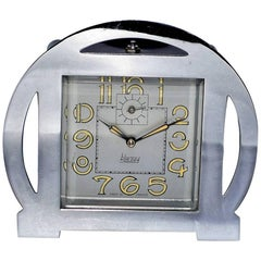 1930s Art Deco Blangy Chrome Clock