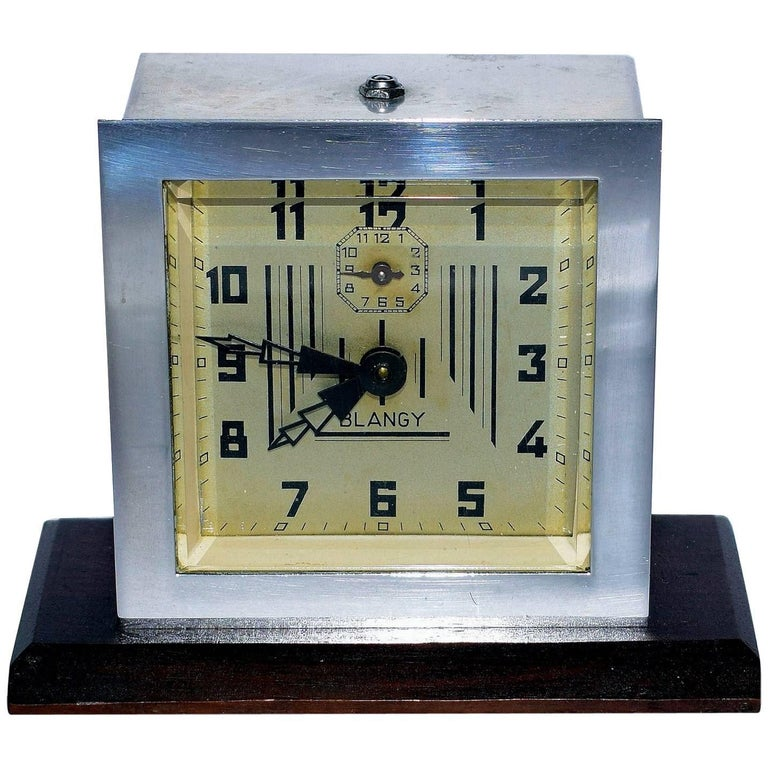 1930s Art Deco Clock by Blangy, France For Sale