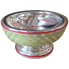 Mid-Century Painted Mercury Glass Bowl