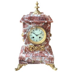 19th Century French Marble Mantelpiece Clock