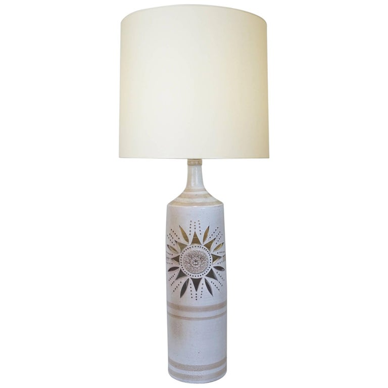Late 20th Century Large Ceramic Table Lamp