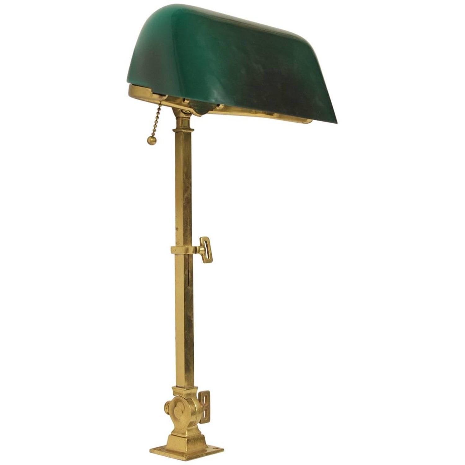 Antique desk lamp in patinated brass by aladdin co for sale at rare 1920s american emeralite brass adjustable desk lamp by hg mcfaddin co geotapseo Image collections