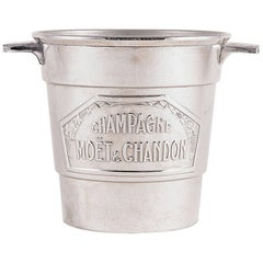 French Art Deco Period Small-Scale Silver Plate Moet et Chandon Champagne Bucket