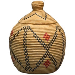 Yupik Basket from Hooper Bay Alaska, circa 1960