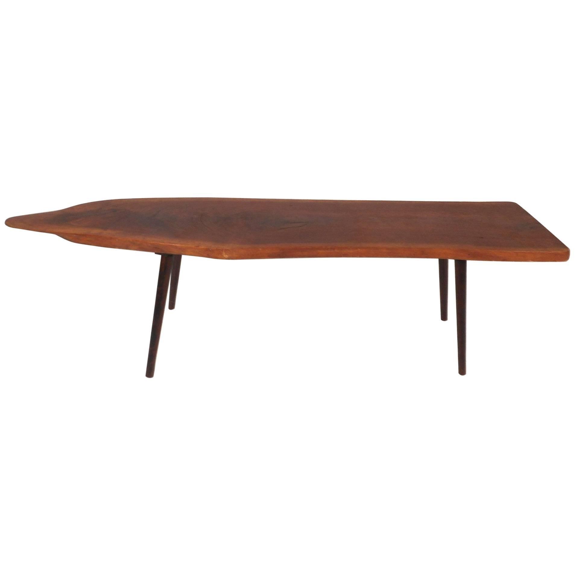 Tree Slab Coffee Table Folded Leg Live Edge Coffee Table Full