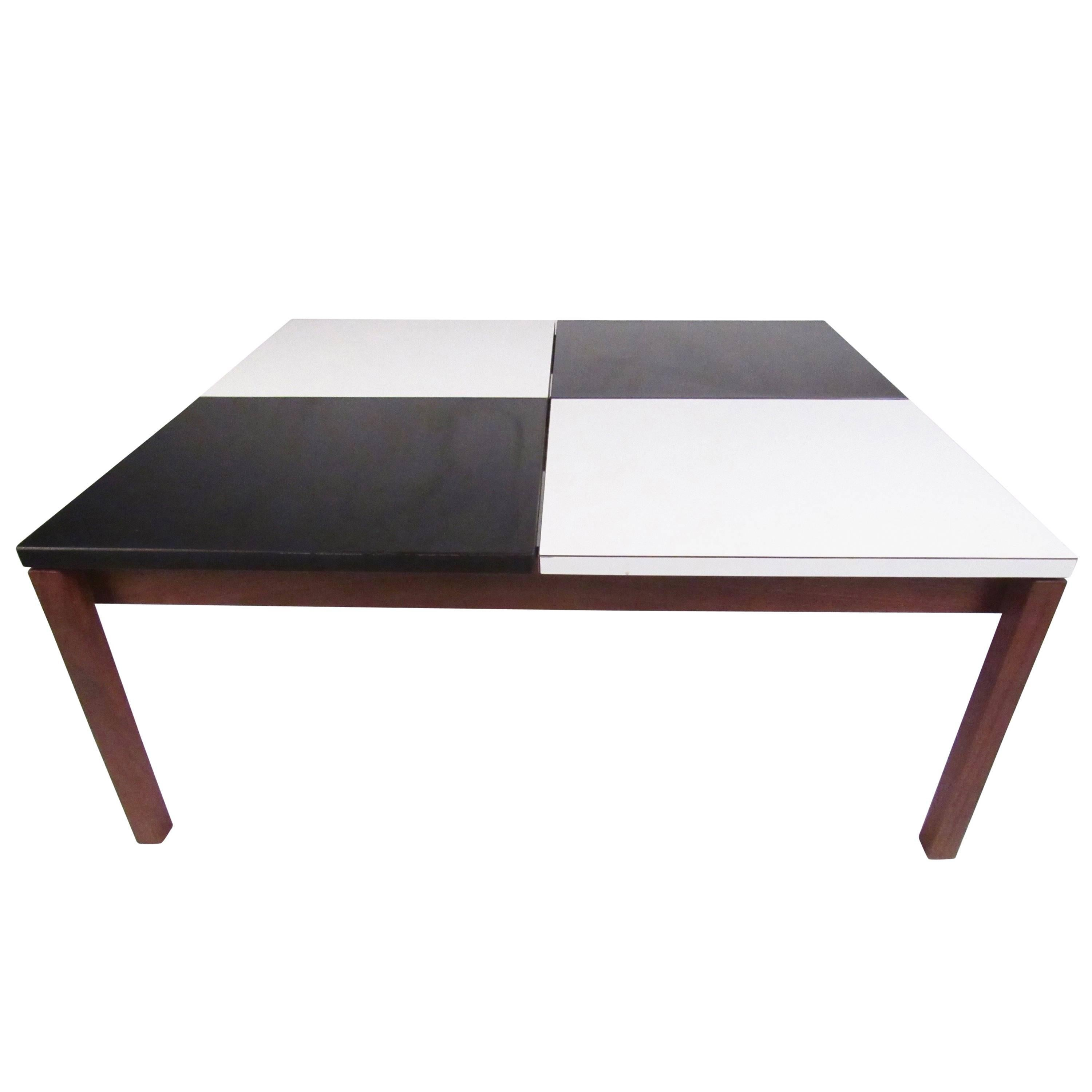 Vintage Modern Black And White Coffee Table By Lewis Butler For Knoll  Associates
