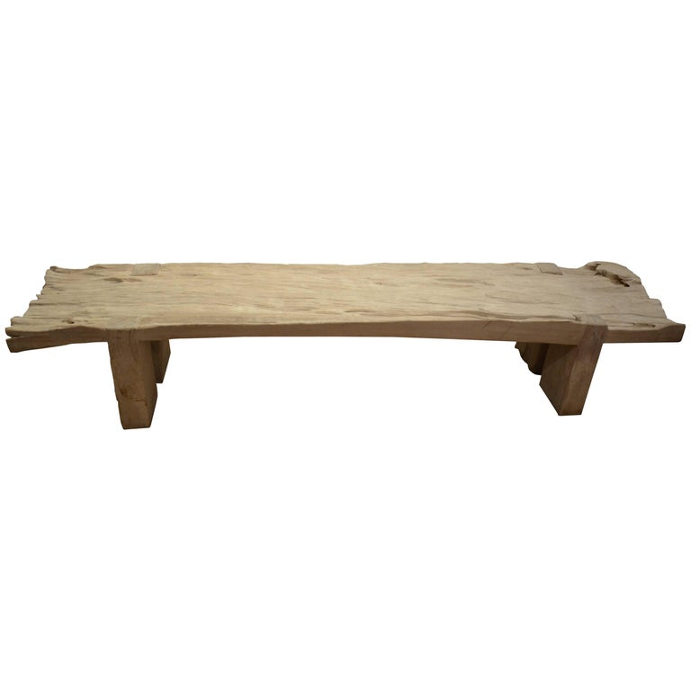 Andrianna Shamaris Rustic Teak Wood Bench or Coffee Table
