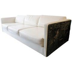 Adrian Pearsall Brutalist Club Tuxedo Sofa Craft Associates